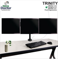 Adjustable Triple monitor stand - NeckDoctor TRINITY