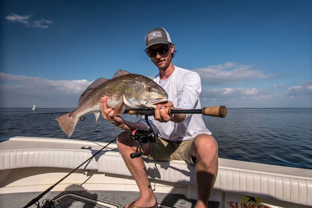 Tim with an overslot Redfish