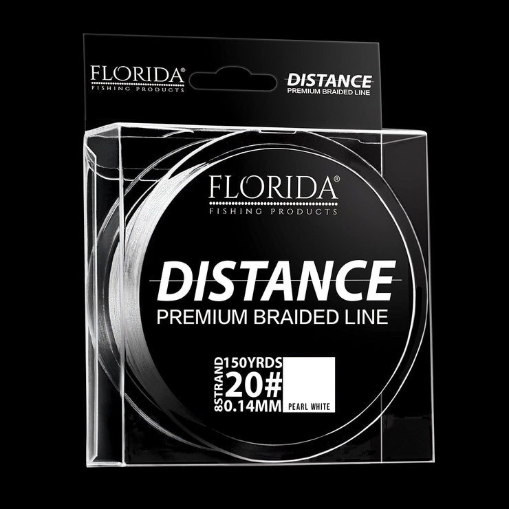 Distance Premium Braided Line | Pearl White
