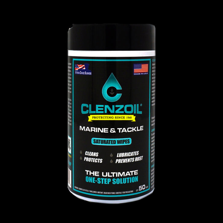 Clenzoil Marine & Tackle – Saturated Wipes
