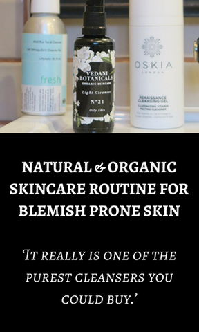 Natural skincare for blemish prone skin