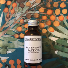 RICH & VELVETY FACE OIL pomegranate & sea buckthorn