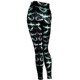 Night Dive Shark print leggings