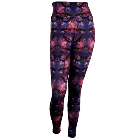Galaxy Shark print Leggings