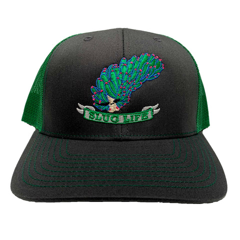 """Slug Life"" Leafy Sheep nudibranch Trucker Hat"