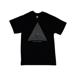 Higher Standards Concentric Triangle Tee (Black) -