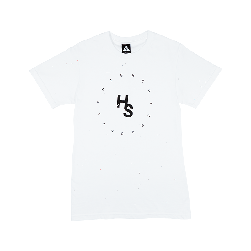 Higher Standards Circle Logo Tee (White) -