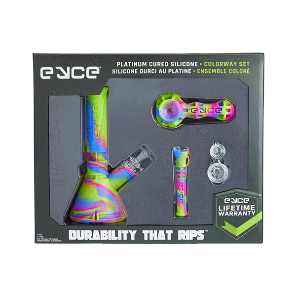 Eyce - Colorway Box Set - (1) Mini Beaker, (1) Spoon, (1) Shorty, (2) Replacement Glass Bowls