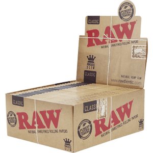 Raw King Size Slim (50 Packs Per Box, 32 Papers Per Pack)