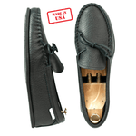 Spring Grove USA Moccasins - Black Cowhide