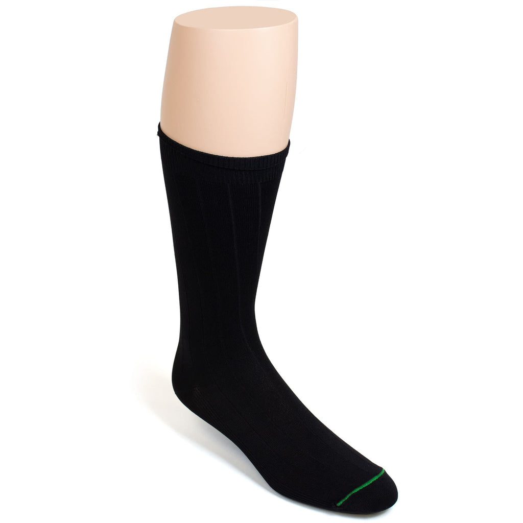 BURLINGTON DRESS MICROFIBER NYLON CREW SOCK - BLACK