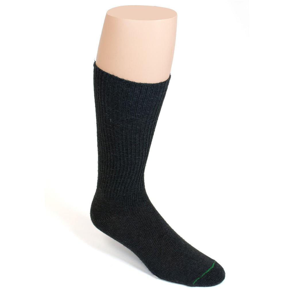 BURLINGTON CASUAL ACRYLIC CREW SOCK - CHARCOAL