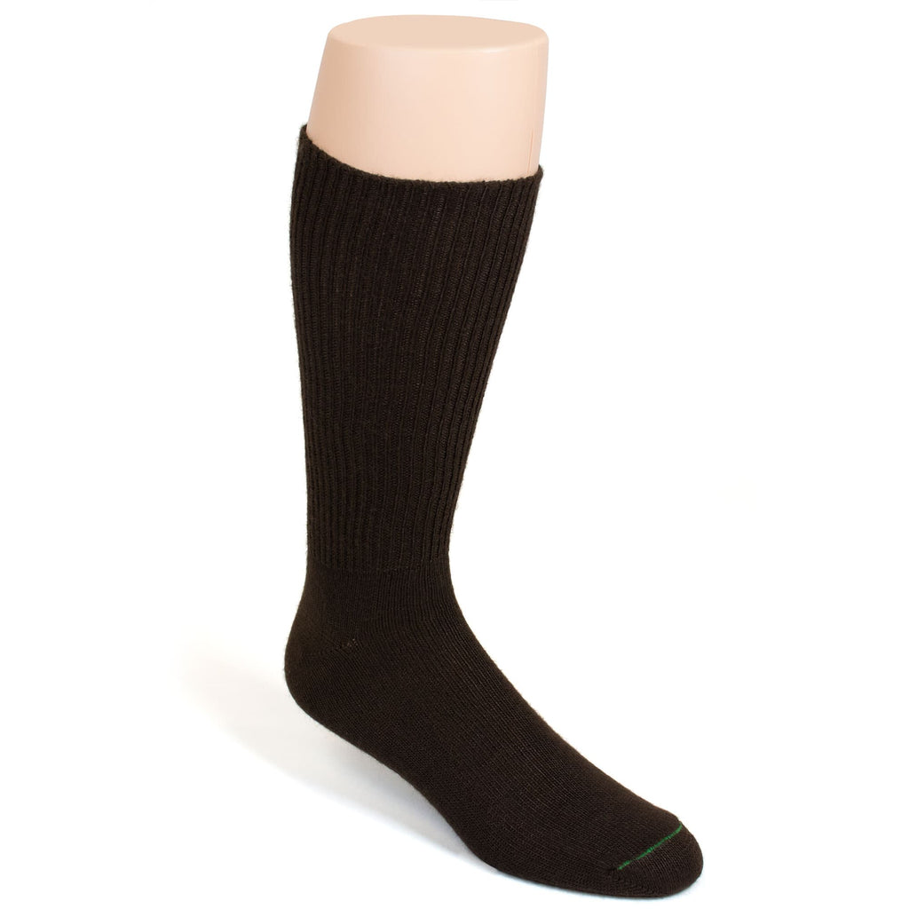 BURLINGTON CASUAL ACRYLIC CREW SOCK - CHOCOLATE BROWN