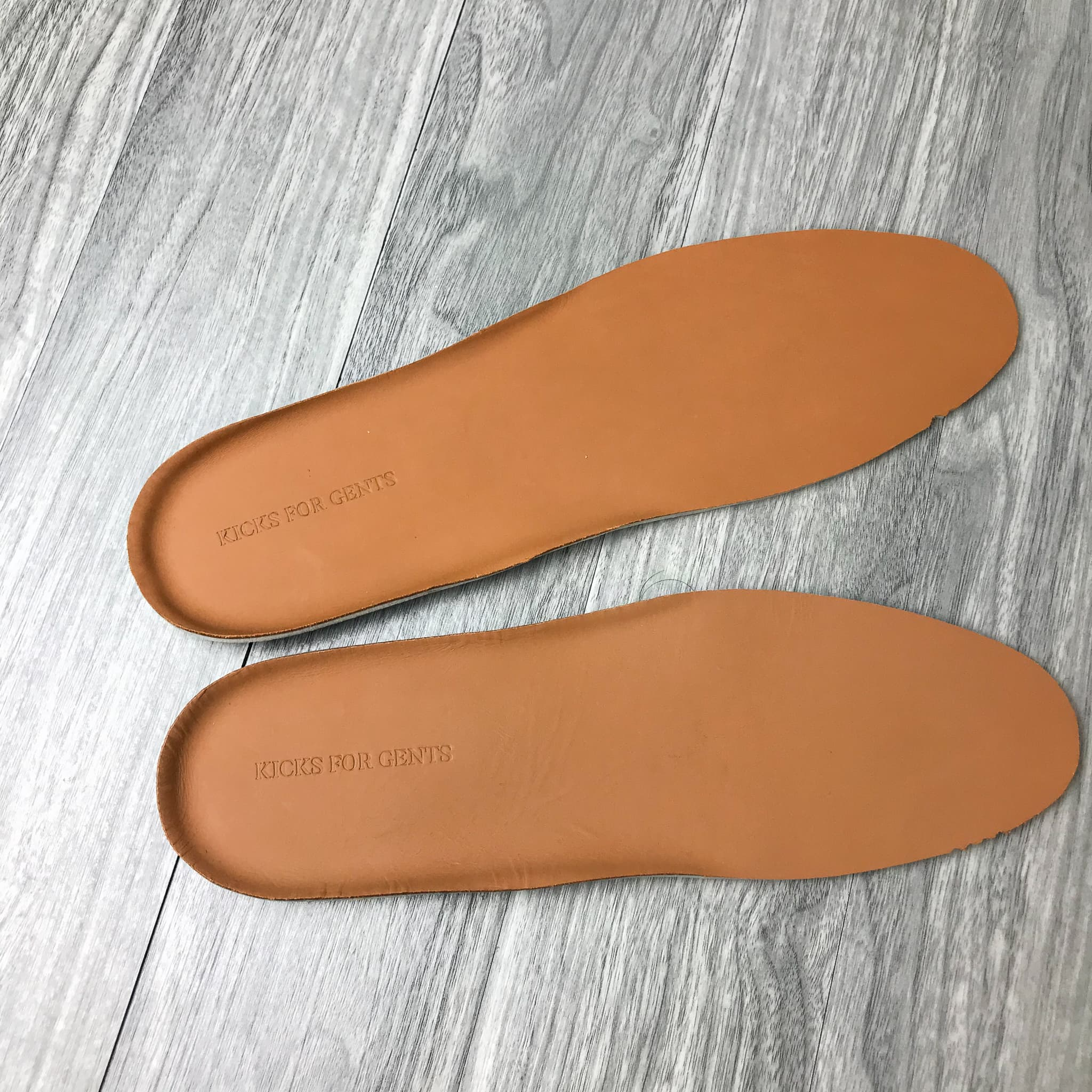 KFG Leather Sneaker Insole -Tan - Kicks For Gents - Insole - Insole