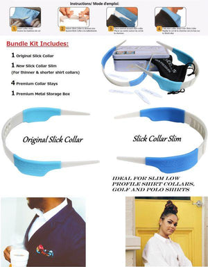 Slick Collar Kit - (1) Slim, (1) Original, & (2) Collar Stays