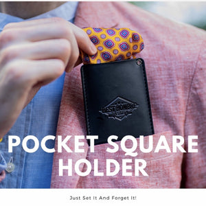 Best Hombre Pocket Square Holder - Kicks For Gents - Pocket Square Holder - Dapper