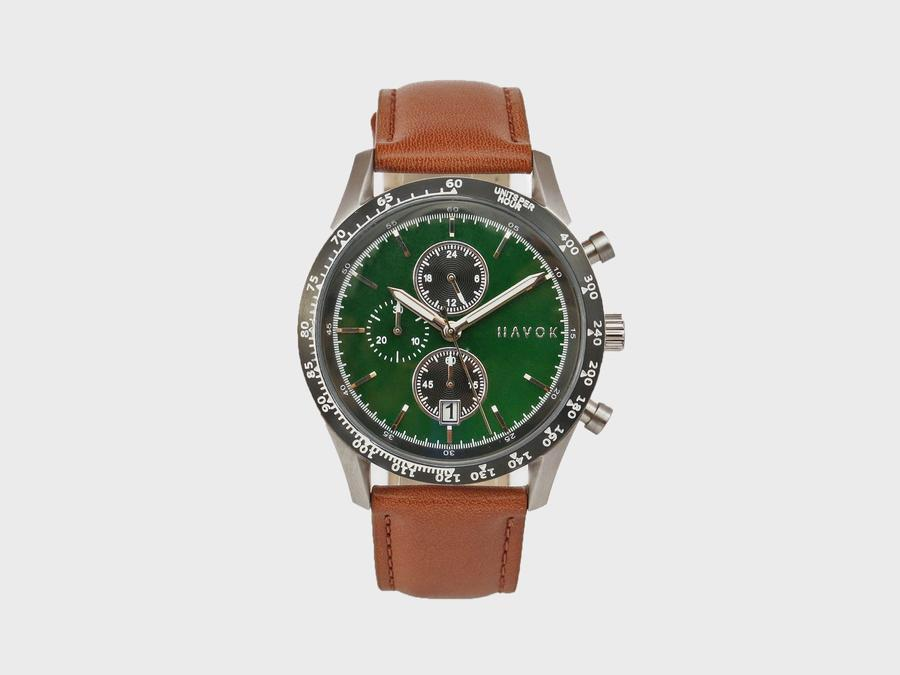 Elliot Havok BRITISH GREEN RACER CHRONOGRAPH - 42MM