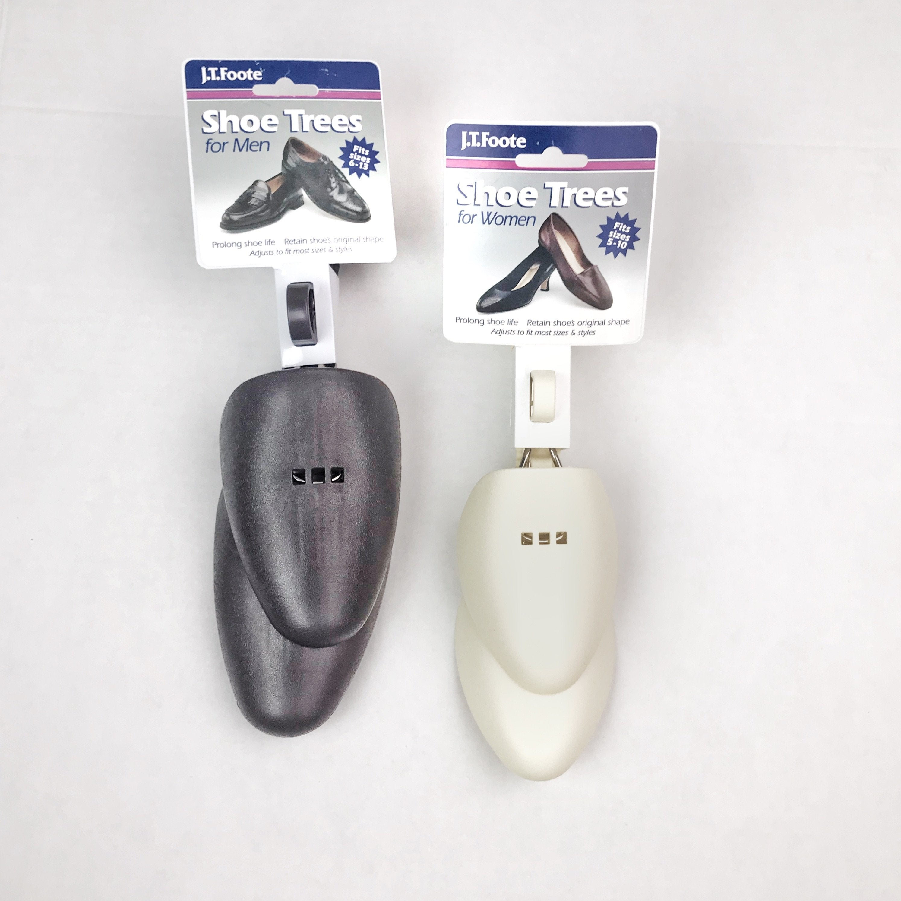 J.T. Foote Adjustable Shoe Trees - Plastic - Kicks For Gents - Shoe Tree - Shoe Accessories, Shoe trees