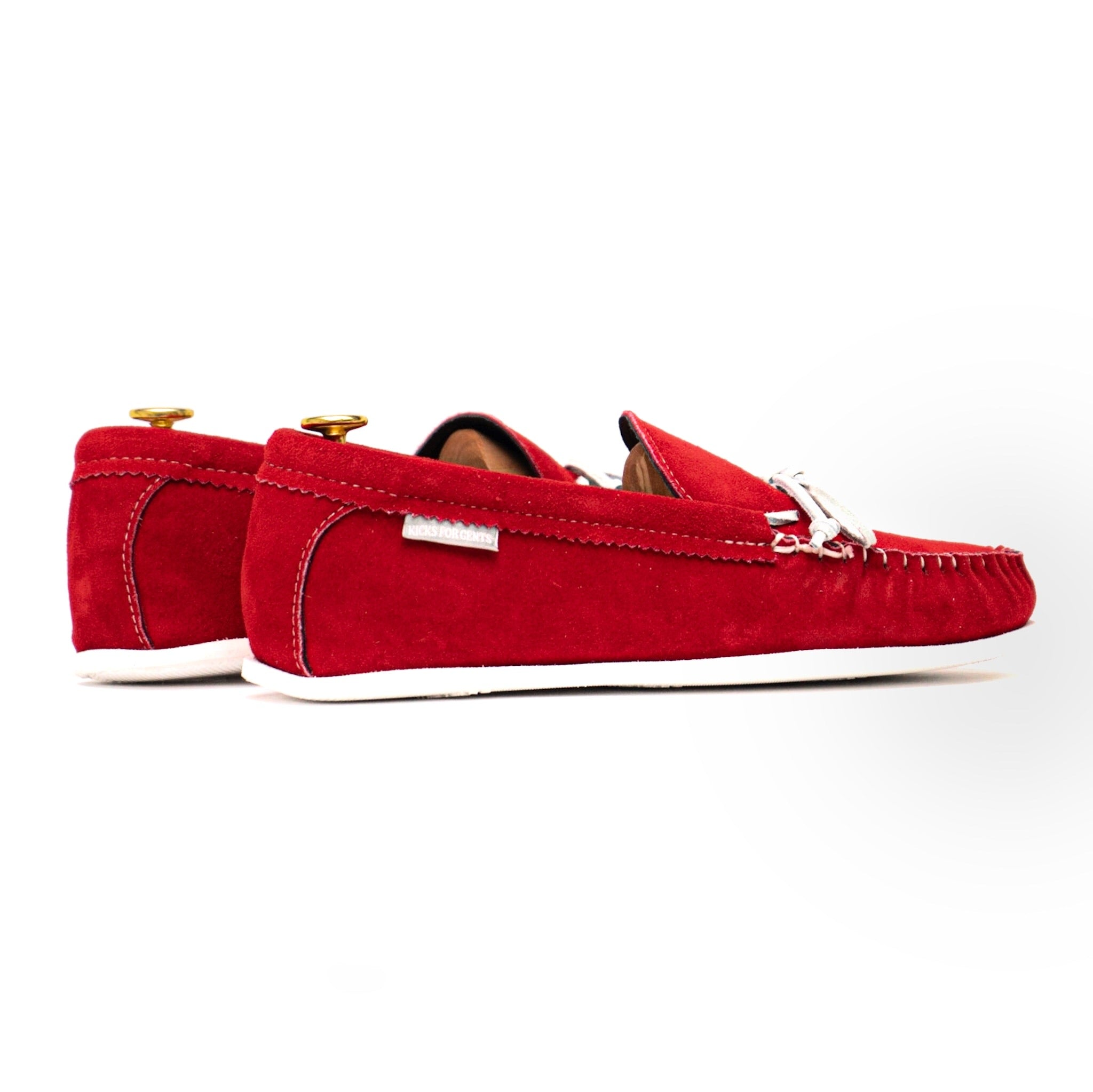 Spring Grove USA Moccasins - Red Suede