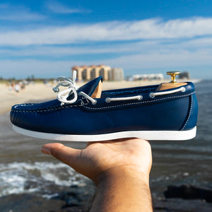 Dexter USA Camp Moc - Navy Chromexcel Leather - Boat Sole