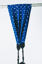 Blue Polka Single Camera Strap