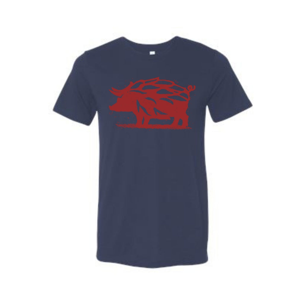 Navy & Red Hop Hog T-Shirt