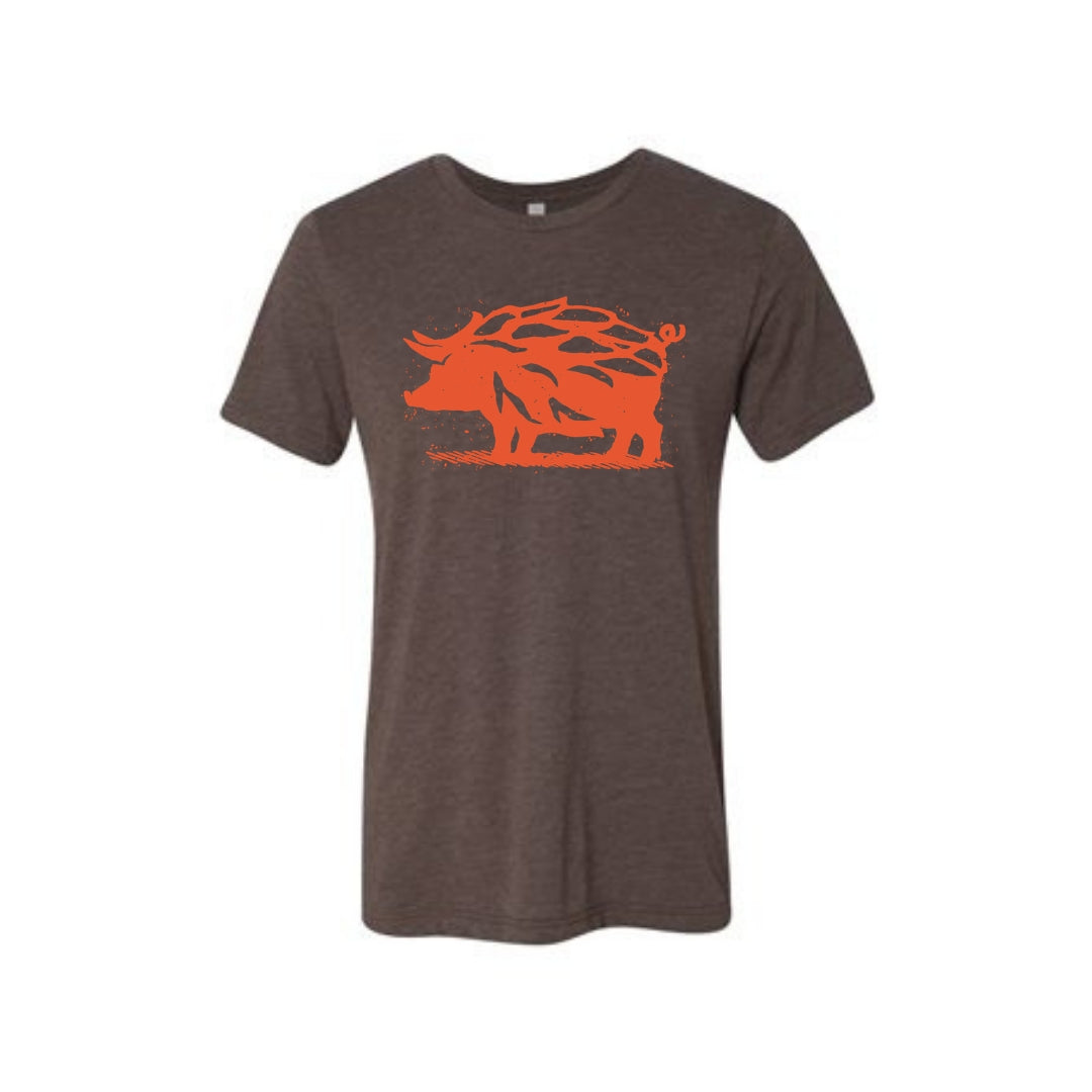 Brown & Orange Hop Hog T-Shirt