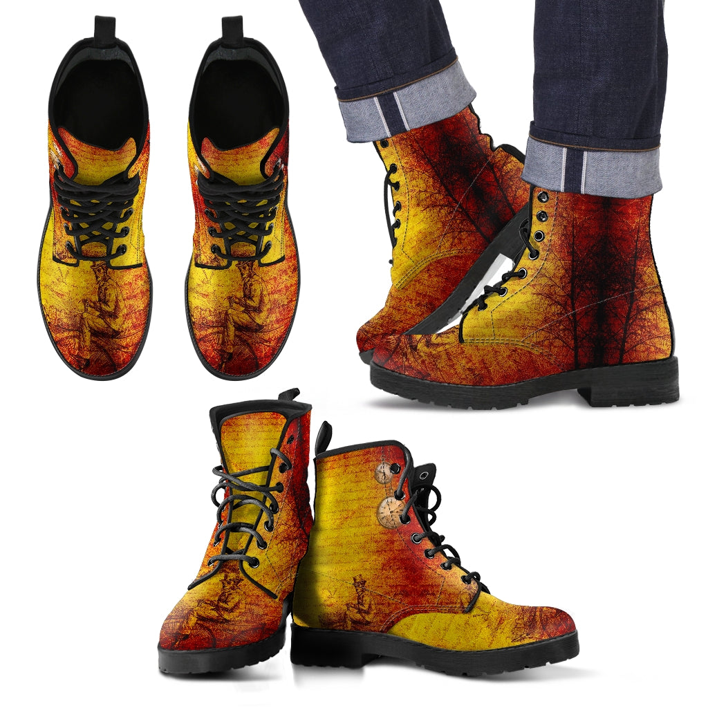 Steampunk /3 - Leather Boots Uomo -