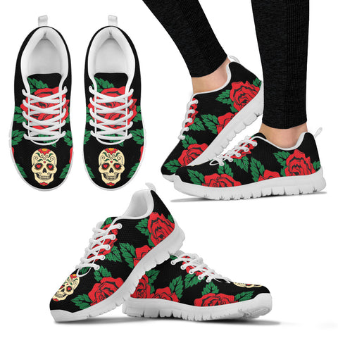 Teschio e Rose -  Sneakers Uomo -