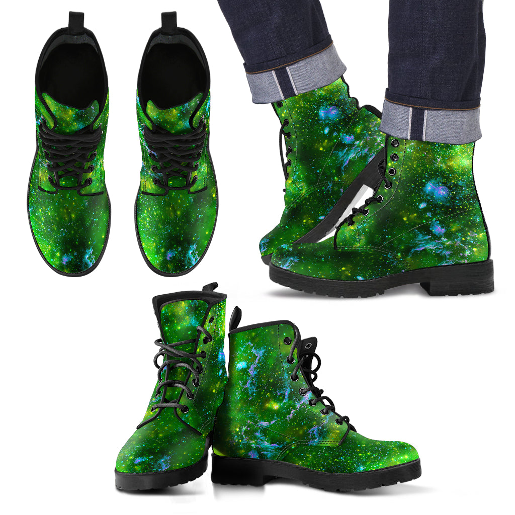 Galassia Verde -  Leather Boots Uomo -