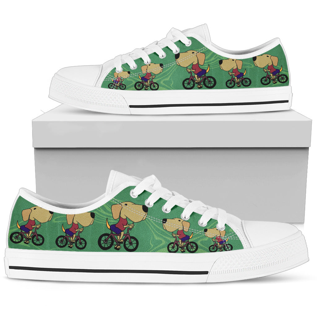 Labrador in Bicicletta - Low Top Donna -