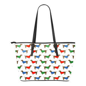 Small Leather Dachshund Small Leather Tote