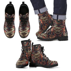 Steampunk /1 - Leather Boots Uomo -