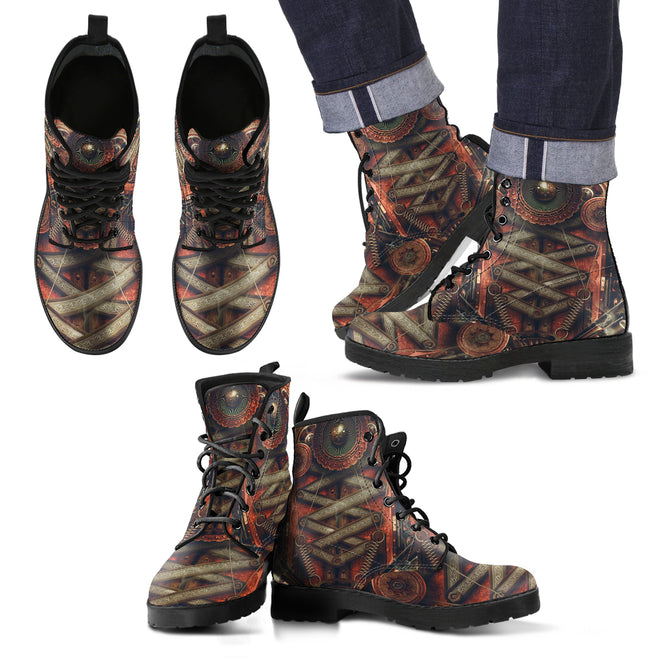 Steampunk Leather Boots Uomo