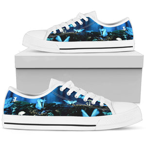 Farfalle e Blu - Low Top Donna -