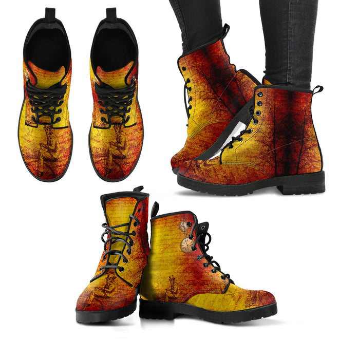 Steampunk - Leather Boots Donna -