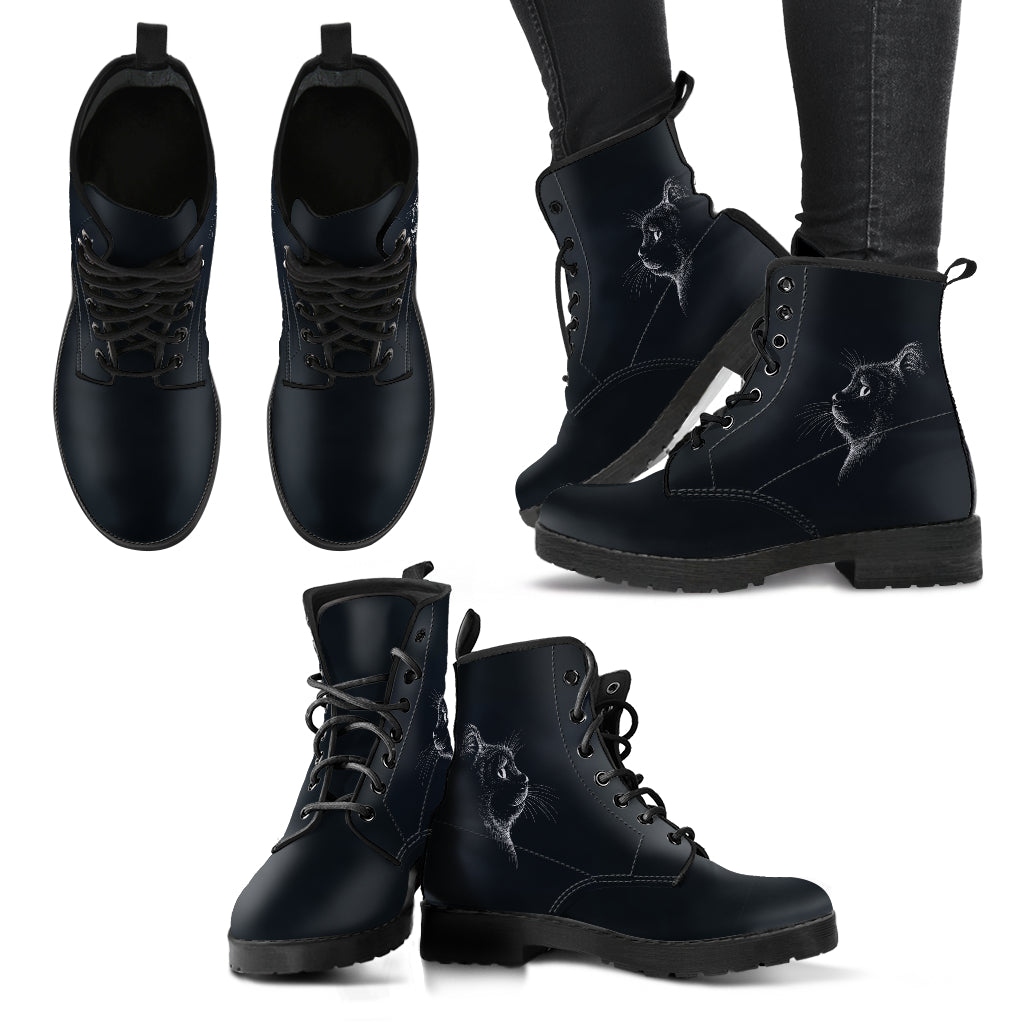 Gatto Nero - Leather Boots Donna -