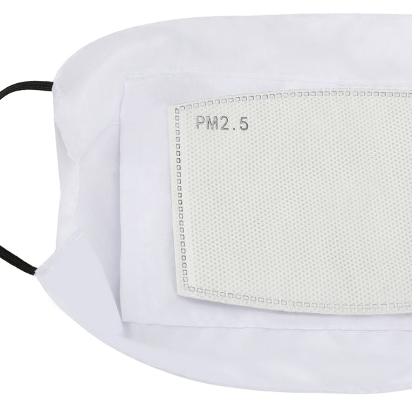 Volto bianco Customizable Face Masks Dust Mask with Filter Element
