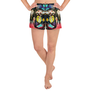 Astratto 1 - Short Atletici Donna -