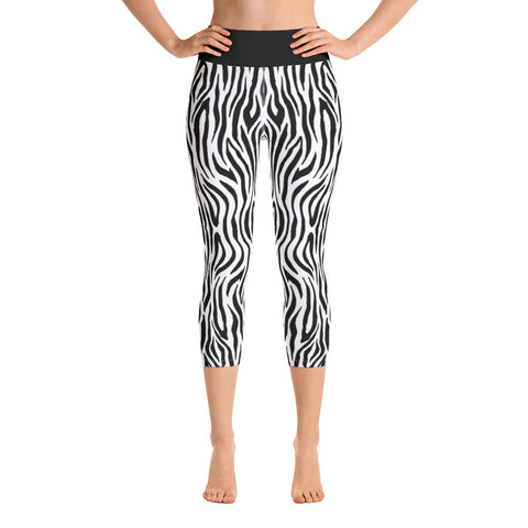 Zebra - Yoga Capri Leggings -