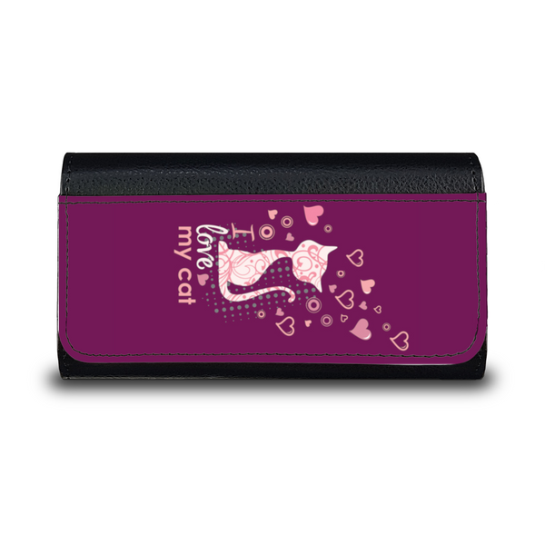 I Love My Cat - Custodia per Occhiali/Bordeaux -