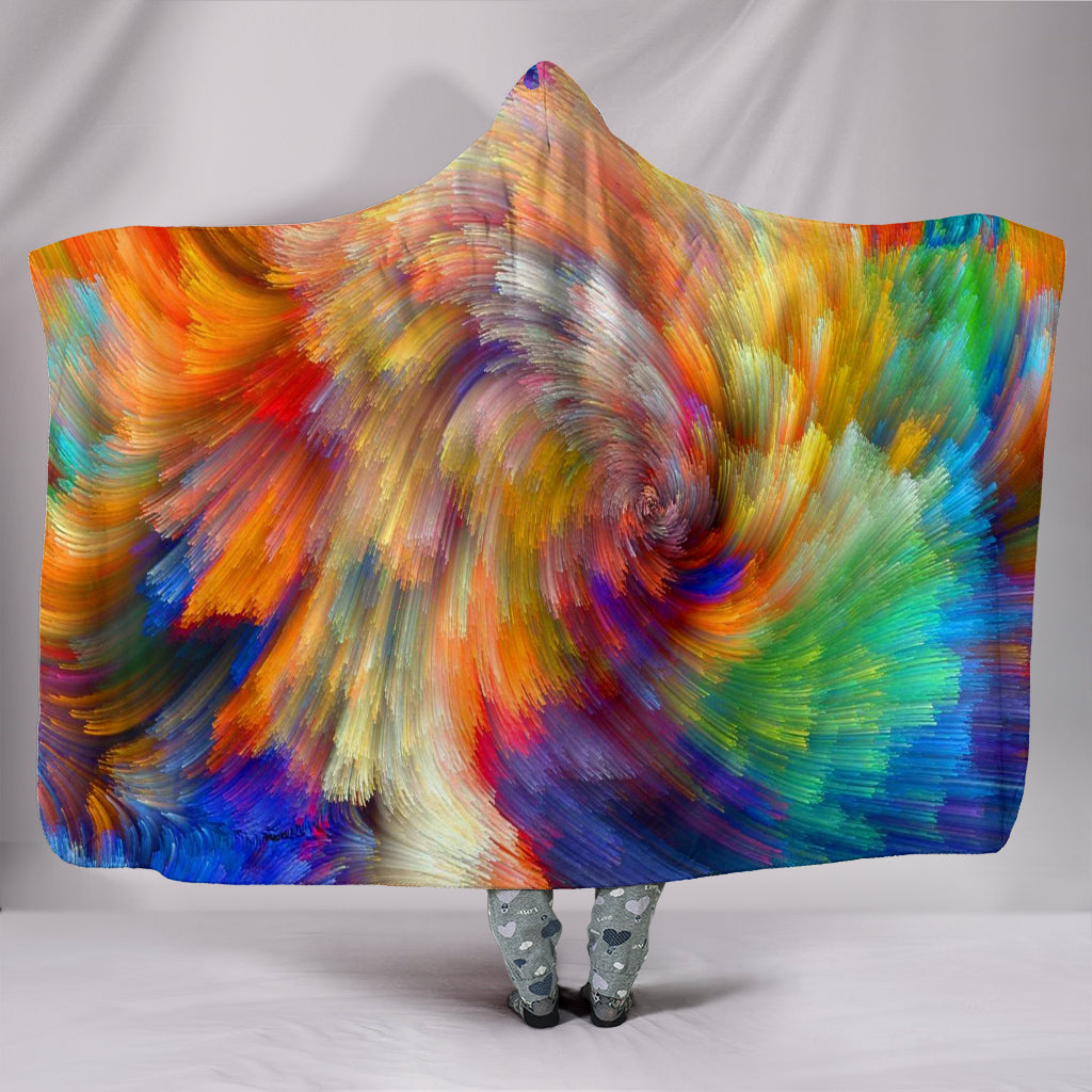 Painted Colours Hooded Blanket