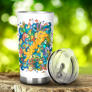 Summer Bianco- Bicchierone Termico ( Tumbler ) 60 cl. -