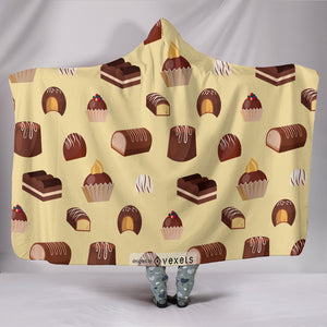Milk Chocolate Goodies Hooded Blanket