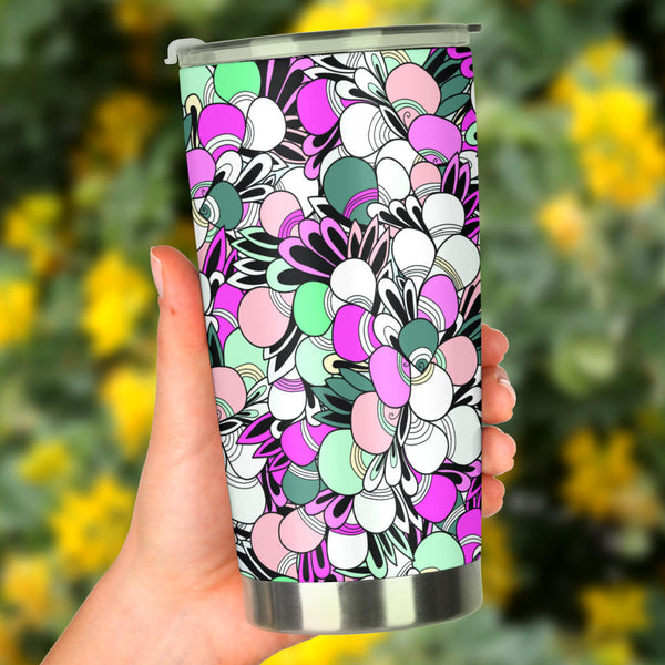 Funky Patterns in Candy - Travel Tumbler