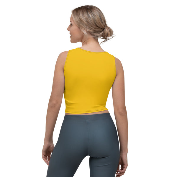 Gatto Fondo Giallo - Crop Top -