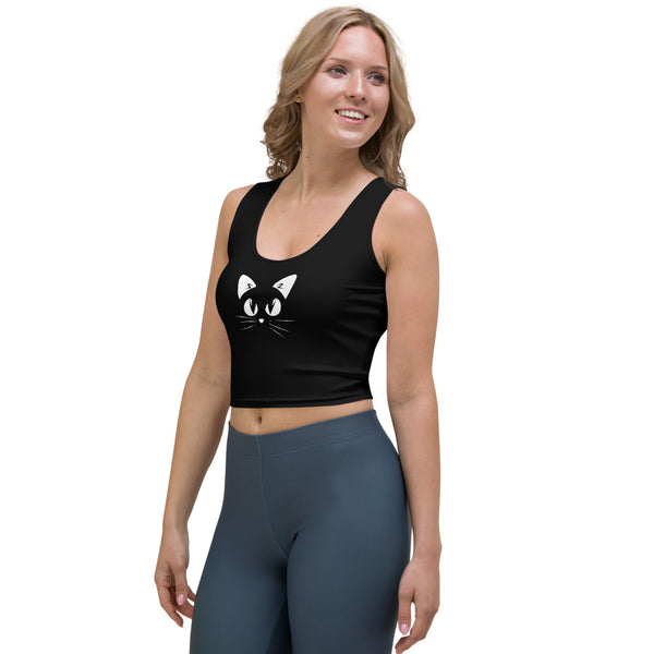 Gatto Fondo Nero - Crop Top -