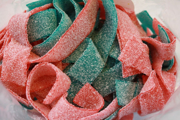 Bulk Candy - Blue Raspberry & Strawberry Sour Belts