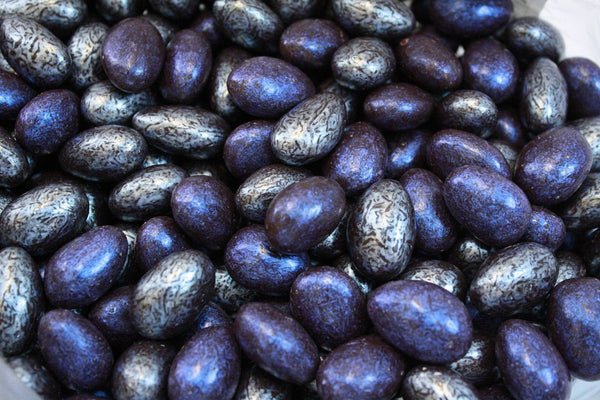 Bulk Candy - Silver & Navy Jewel Chocolate Almonds