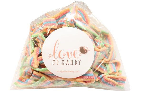 Bulk Candy - Rainbow Sour Belts